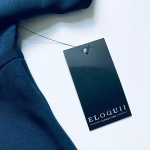 Eloquii Tops - Peplum Top Navy Blue Tie NWT Size 26/28